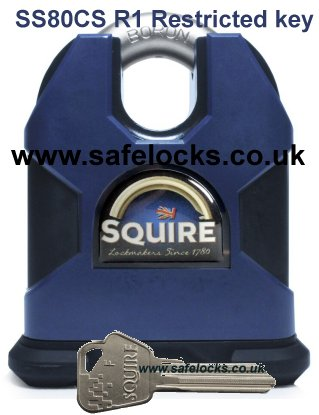 Squire Stronghold SS80CS/R1/SD CEN6 Padlock with Restricted Key
